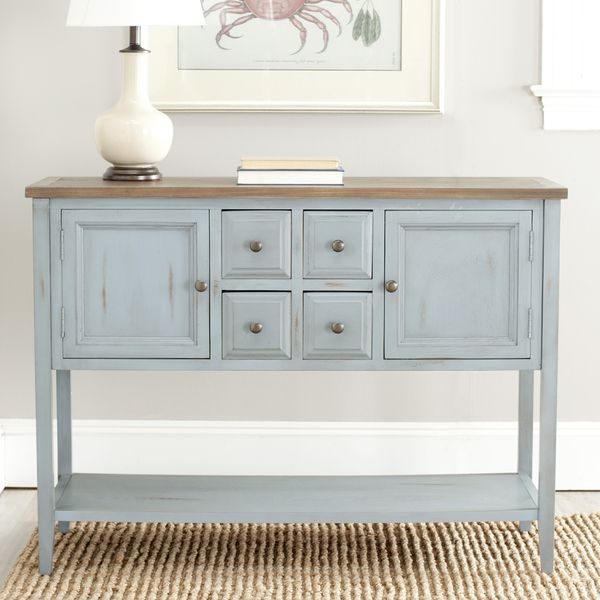 Safavieh Brighton French Blue Finish Storage Sideboard Furnitures Buffet Home Collections