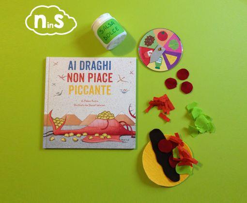 """Dal divertentissimo libro """"Ai draghi non piace piccante"""" (Dragons like tacos""""), un gioco per tutta la famiglia."""