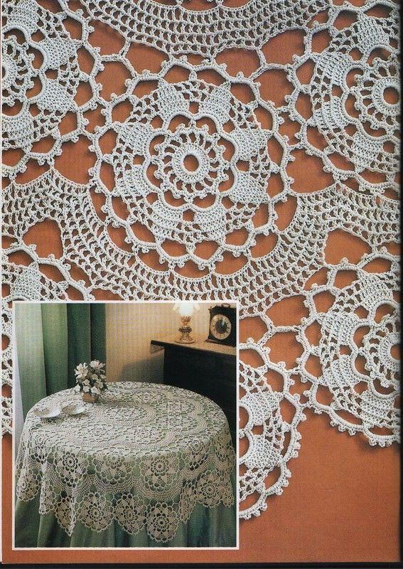 17 mejores im genes sobre manteles crochet en pinterest for Decoracion hogar a crochet