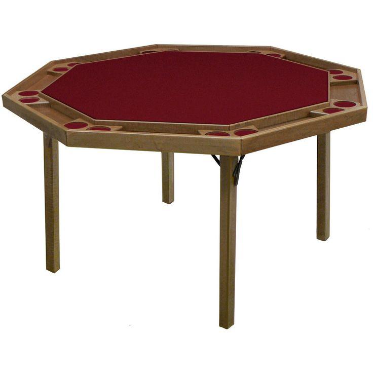 "Kestell O-91 Oak Contemporary Folding Poker Table 52"" - Pokertables Americana"