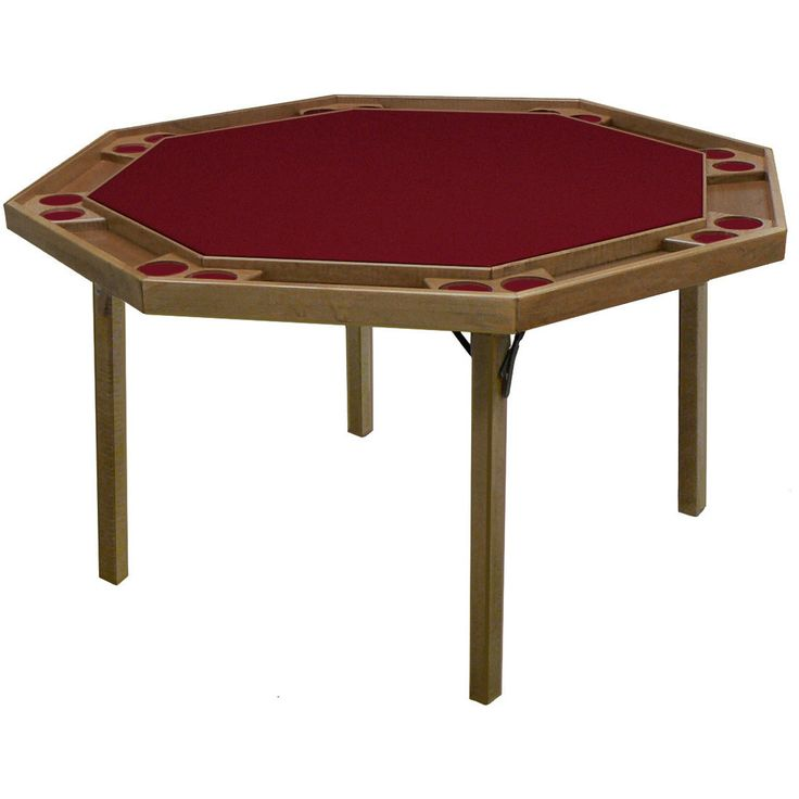 "Kestell O-91 Oak Contemporary Folding Poker Table 52"" - Pokertables Americana"