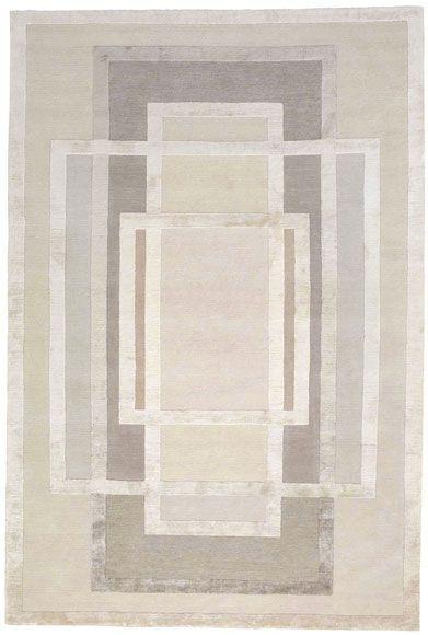 Platinum by David Rockwell | Tibetan Wool and Silk Rug