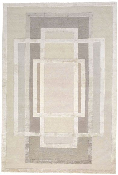 Platinum by David Rockwell | Tibetan Wool and Silk Rug