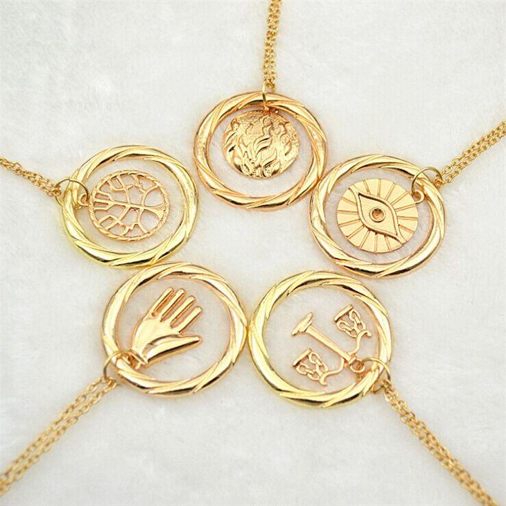 divergent necklace vintage Dauntless Candor Erudite Amity Abnegation pendant gold and silver for men women wholesale #Affiliate