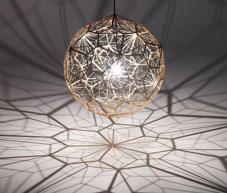 tom dixon: etch web light at luminosity milan design week 2012 - designboom | architecture
