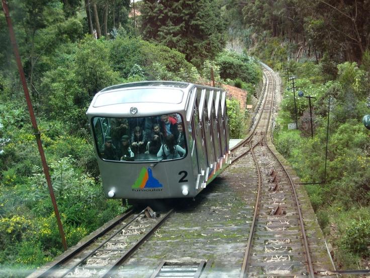 Funicular a Monserrate, uno de los medios de transporte para subir al cerro que se encuentra a 3.152 metros de altura sobre el nivel del mar.
