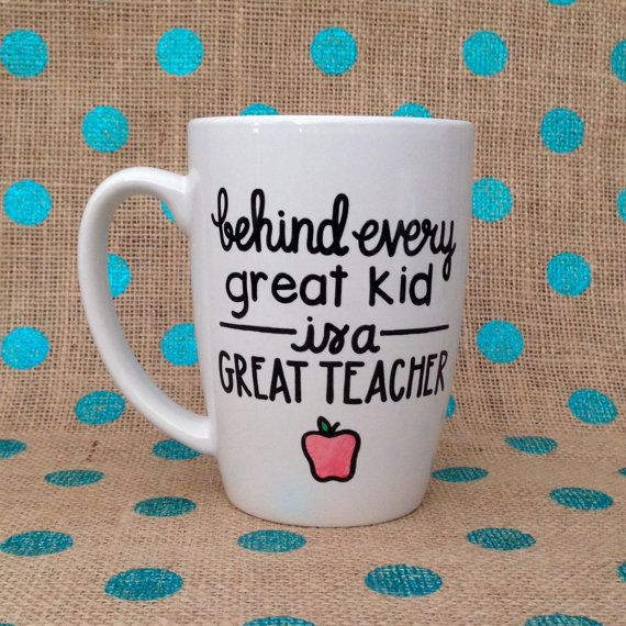 Teacher Appreciation Day Coffee Mug  Behind Every by Hinzpirations