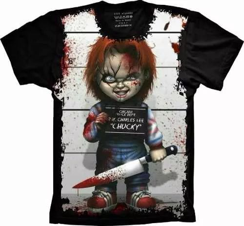 camisetas filmes terror cinema chucky boneco assassino
