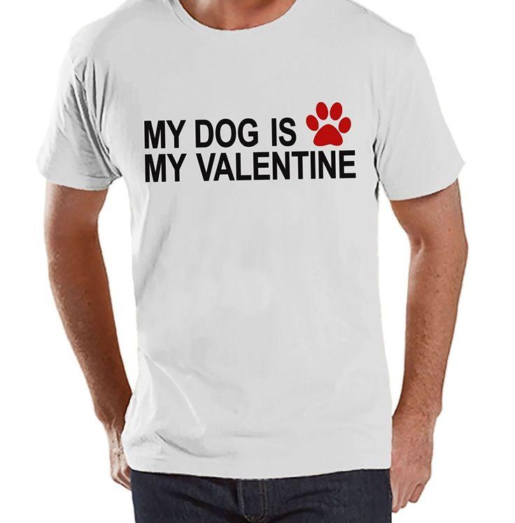 Custom Party Shop Men's Dog Anti Valentine's Day T-shirt