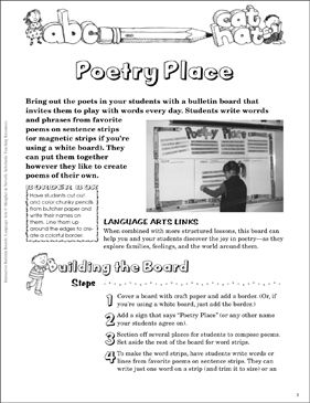 Poetry Place: Language Arts Bulletin Board  by Scholastic