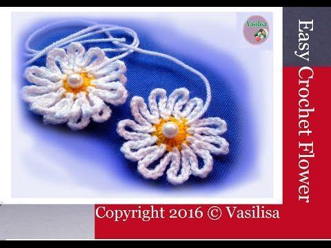 Crochet & Knitting Vasilisa - YouTube  Easy Crochet Flower easy crochet flower tutorial easy crochet flower for beginners