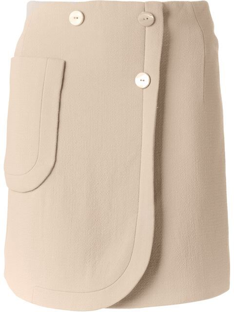 Carven Double Breasted Skirt - Banner - Farfetch.com