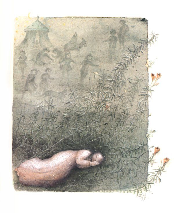 Sleeping Art by Kaarina Kaila (From The Wild Swans)