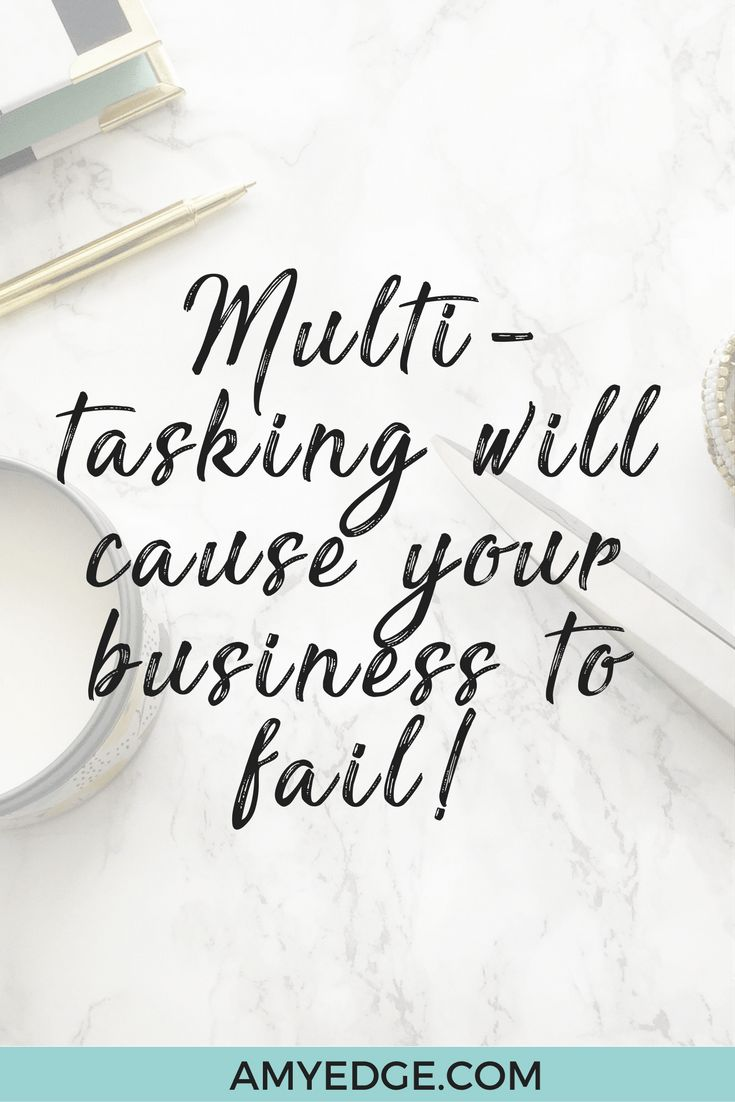 Newsflash: Multi-tasking is ruining your business! Do you ever feel like you have to do #allthethings in your biz and life? Here is how to quit!