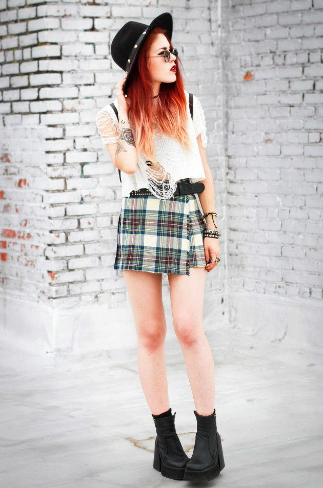 Top – She Inside Skirt -vintage/ similar Shoes ….