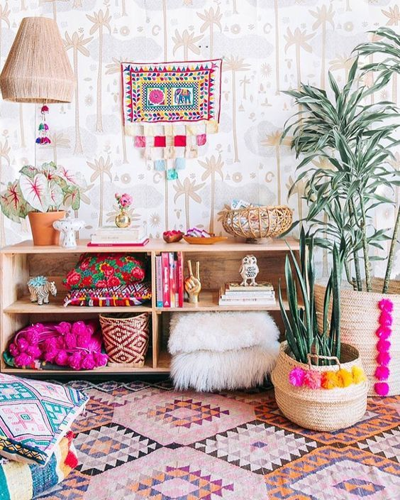 Plants in baskets | 10 Ways to Decorate Your Dorm Room Without Causing Damage | http://www.hercampus.com/diy/decorating/10-ways-decorate-your-dorm-without-causing-damage