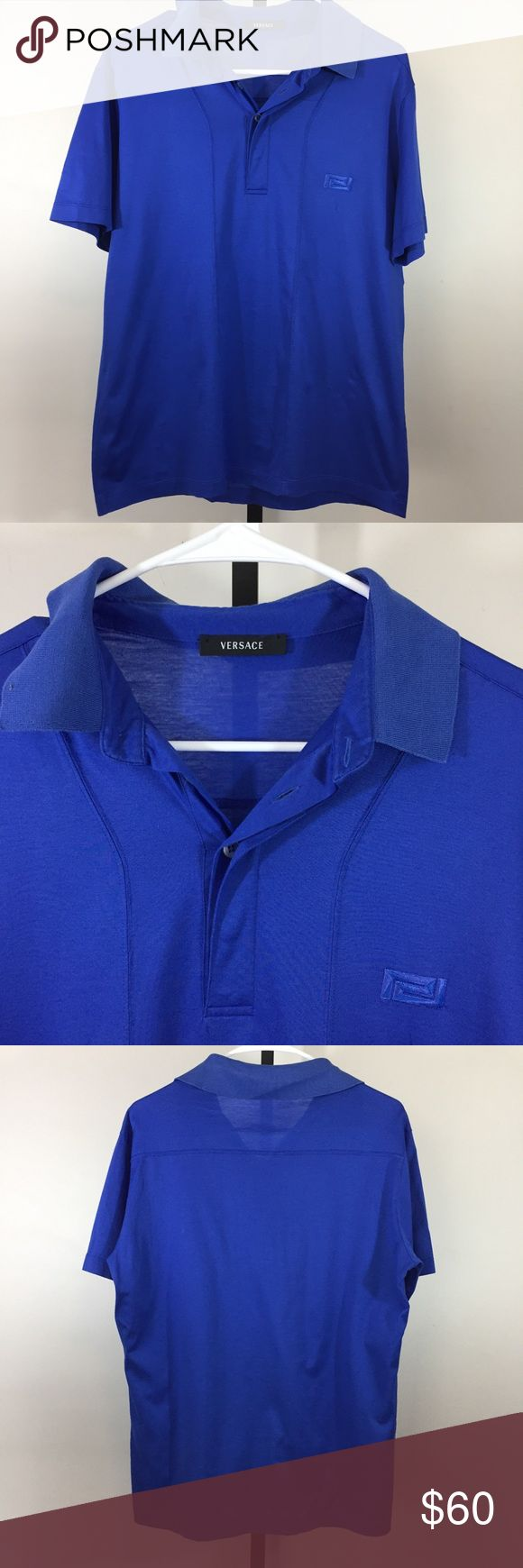 Versace Men's Polo Collar Shirt Large Good used condition  No spots or holes  Size 50 (large) Bin Q Versace Shirts