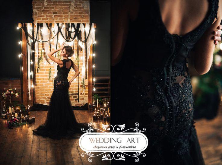 Фотосессия в черно-золотом цвете - Свадебный декор и флористика Wedart.com.ua