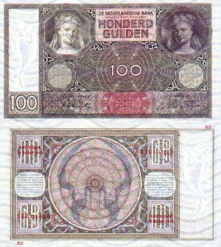 Netherlands  25 Gulden 19.3.1941