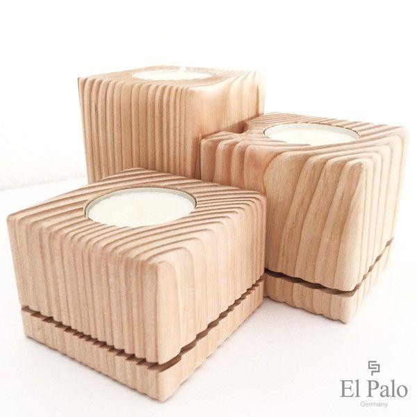 Kerzenständer+aus+Holz+-+Vela+2+von+El+Palo+-+Germany+auf+DaWanda.com