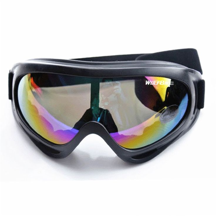WOSAWE UV Protection Sports Ski Snowboard Skate Goggles Glasses Outdoor Motorcycle Ski Goggle Glasses Eyewear Lens Colourful