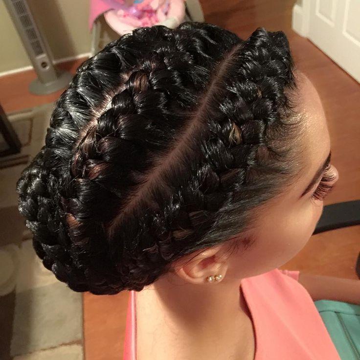Goddess braids by @mzpriteabraids