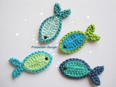 crochet fish applique by Ladybumblebee (these would be so sweet sewn together into a blanket for our Camp on the Lake!