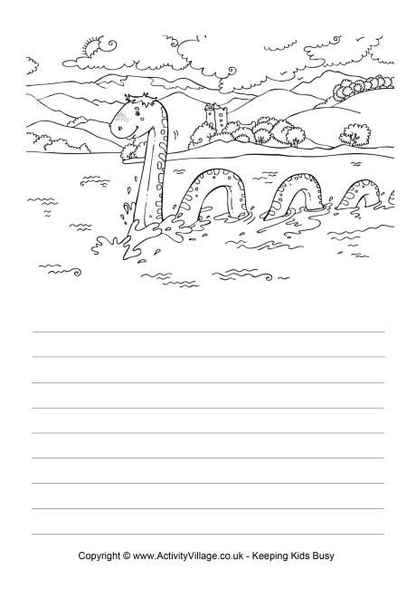 Loch Ness Monster Story Coloring Page