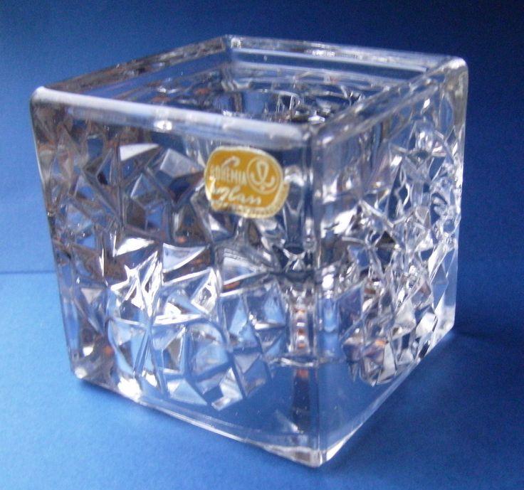 RARE Sklo Union 'Hobnail' Glass Candle Holder Designed by Rudolf Jurnikl 1 1kg   eBay
