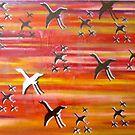 FLAMINGOES by Lozenga