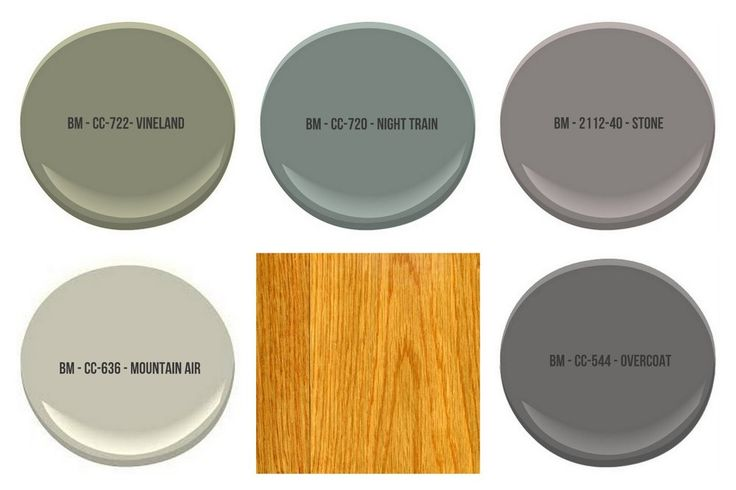 All colors shown are by Benjamin Moore  The Best Wall Paint Colors To Go With Honey Oak
