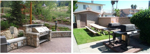 BBQ Area   It provides space for #outdoor #cooking, dining and entertaining guests.