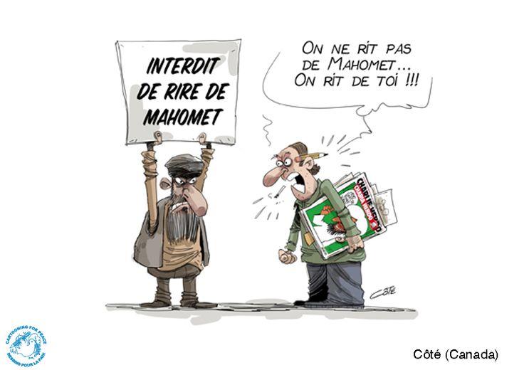 Par Côté (Canada) pour Cartooning for peace.
