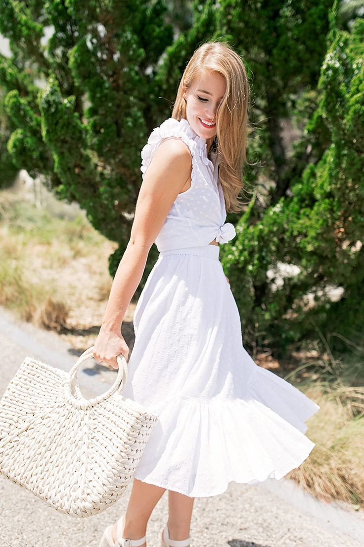 white midi skirt | how to style a midi skirt | how to wear a midi skirt | how to style an all white outfit | how to wear an all white outfit | summer fashion | summer style | fashion for summer | style ideas for summer | warm weather fashion | fashion tips for summer || a lonestar state of southern
