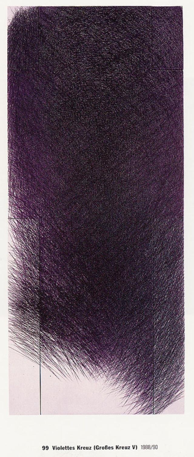 Arnulf Rainer, Kreuz V, 1 - 35: violett (Kat. Nr. 12)