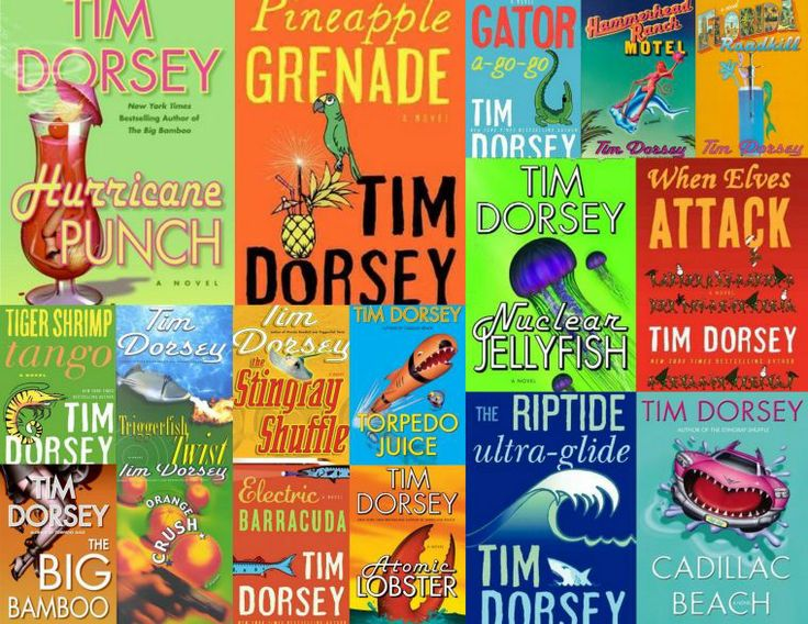 "Tim Dorsey's ""Serge Storm"" mystery series."
