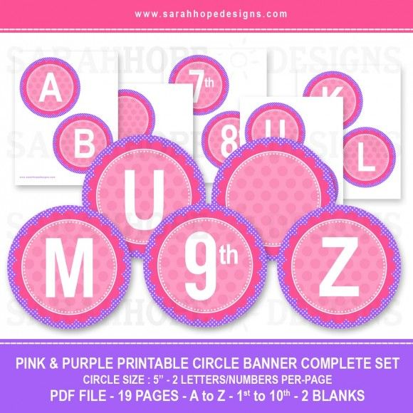 Spell Out Anything With these FREE Alphabet Circle Banners from Sarah Hope Designs