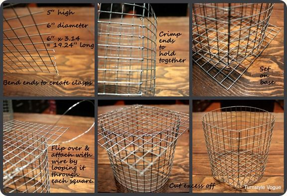 EASY tutorial to make your own wire baskets. Seriously. So easy and cheap from wire fencing.