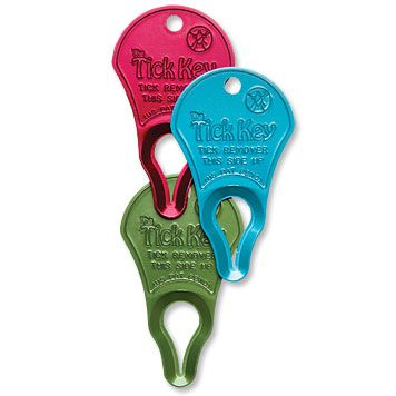 Tick removal key...  Kind of like a bottle opener, but this one is to yank them dang ticks off...  In a way that will pull the head out too! #Camping #Outdoors