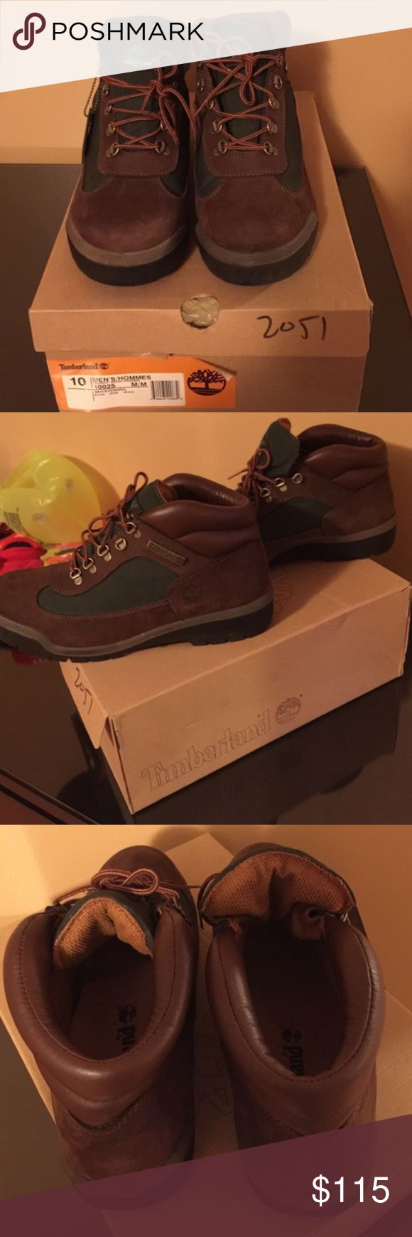 Men's timberland field boot size 10 Brand new with box size 10 brown and green Timberland Shoes Boots