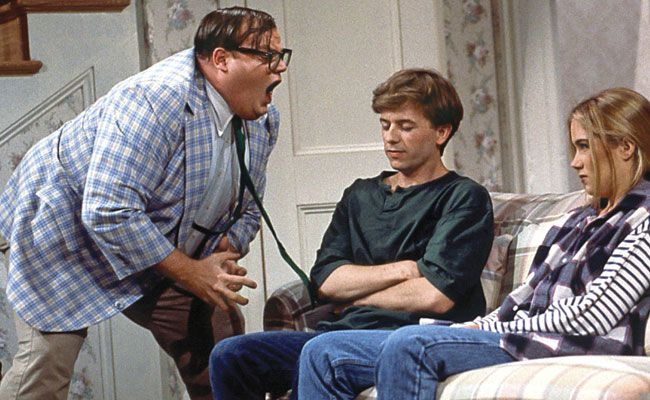 On Saturday Night Live, Matt Foley (Chris Farley) is a motivational speaker with all the wrong qualities. He's disheveled, eats a steady diet of government cheese, and lives in a van down by the river. If you're doing any better, well whoop-dee-frickin-doo!