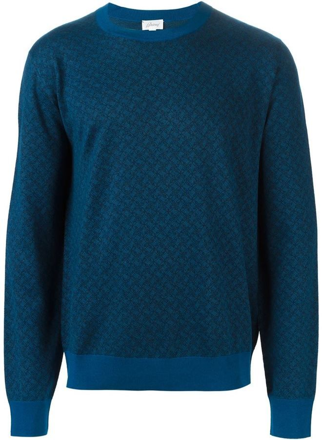 Brioni crew neck sweater