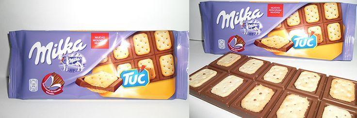 """Milka Tuc """"una combinación inesperada"""" http://www.yolopruebo.com/dulce-o-salado-chocolate-milka-o-galletas-tuc-mejor-los-dos/"""