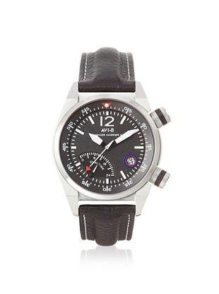 AVI-8 Men's AV-4004-02 Hawker Harrier II Black Stainless Steel Watch