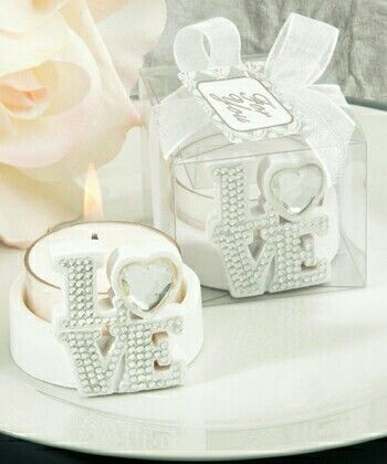 love candle wedding souvenir