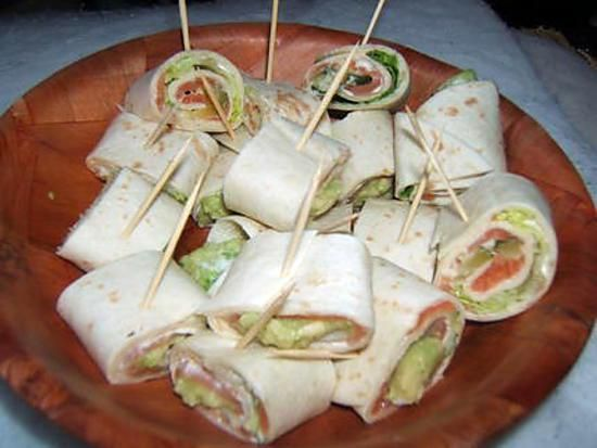 10 best images about wraps on pinterest cream cheeses for Canape aperitif froid