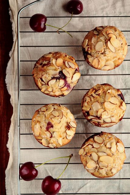 Cherry Almond Muffins by pastryaffair, via Flickr