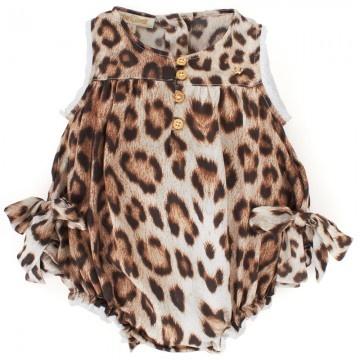Roberto Cavalli Babies Silk Leopard Print Body   AlexandAlexa