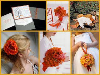 fazer essa bola de flores para as damas de honra! #Inspiração: Decoração Casamento na cor Laranja   Manná Noivas: Ideias e Dicas de Casamento