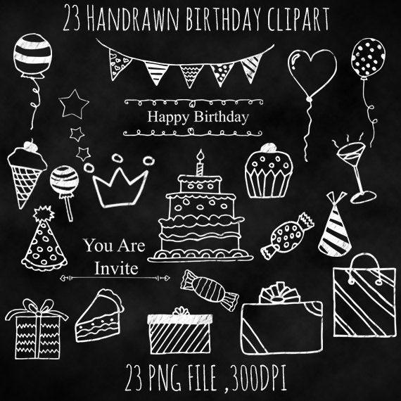 happy birthday chalkboard card - Google Search